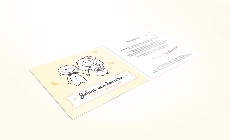 Einladung in 14,8 x 14,8 cm